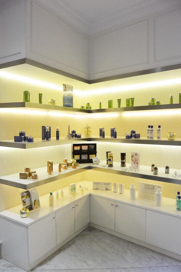 Skincare Rack at OYA Clinics - Delapankata