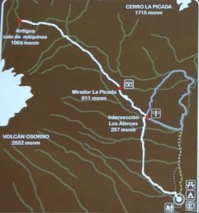 Mapa Sendero Desolacion