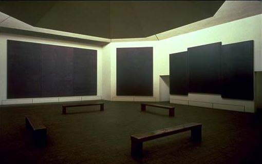 Chapelle Rothko, intérieur