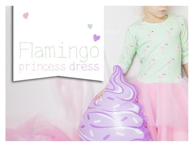 Flamingo princess dress