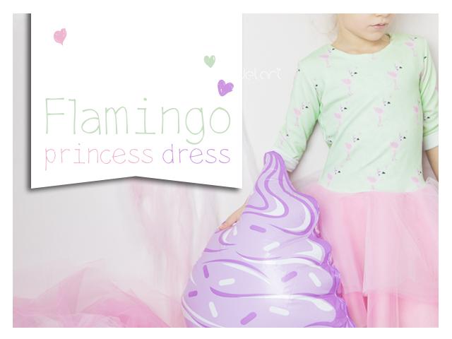 Flamingo princess dress