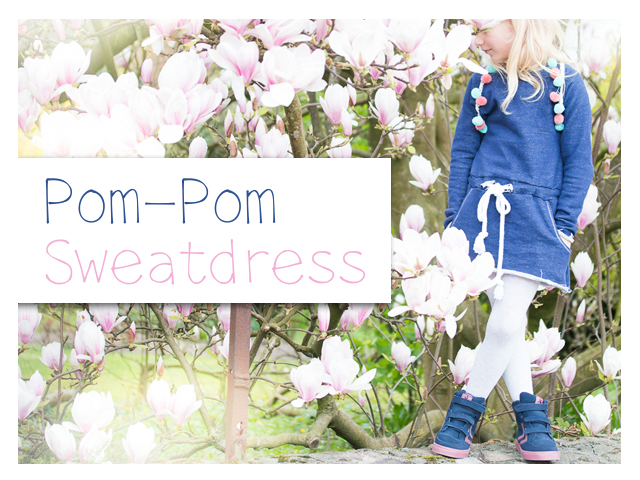 Pompom – Sweatdress – Schaumzucker&Stoffcentrum
