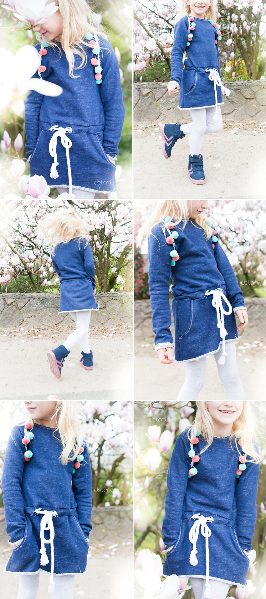Nähen Kinder DIY Schnittmuster Kidsfashion Sweatdress