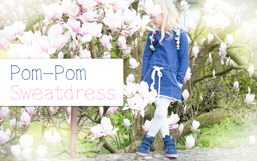 Pompom - Sweatdress - Schaumzucker&Stoffcentrum - delari