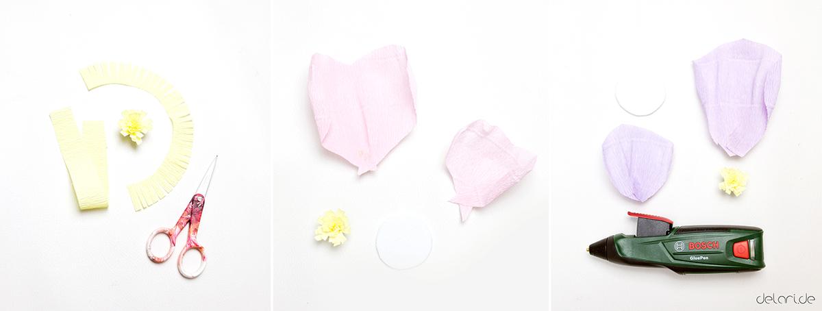 DIY riesen Kreppblume mit Anleitung und Schablone