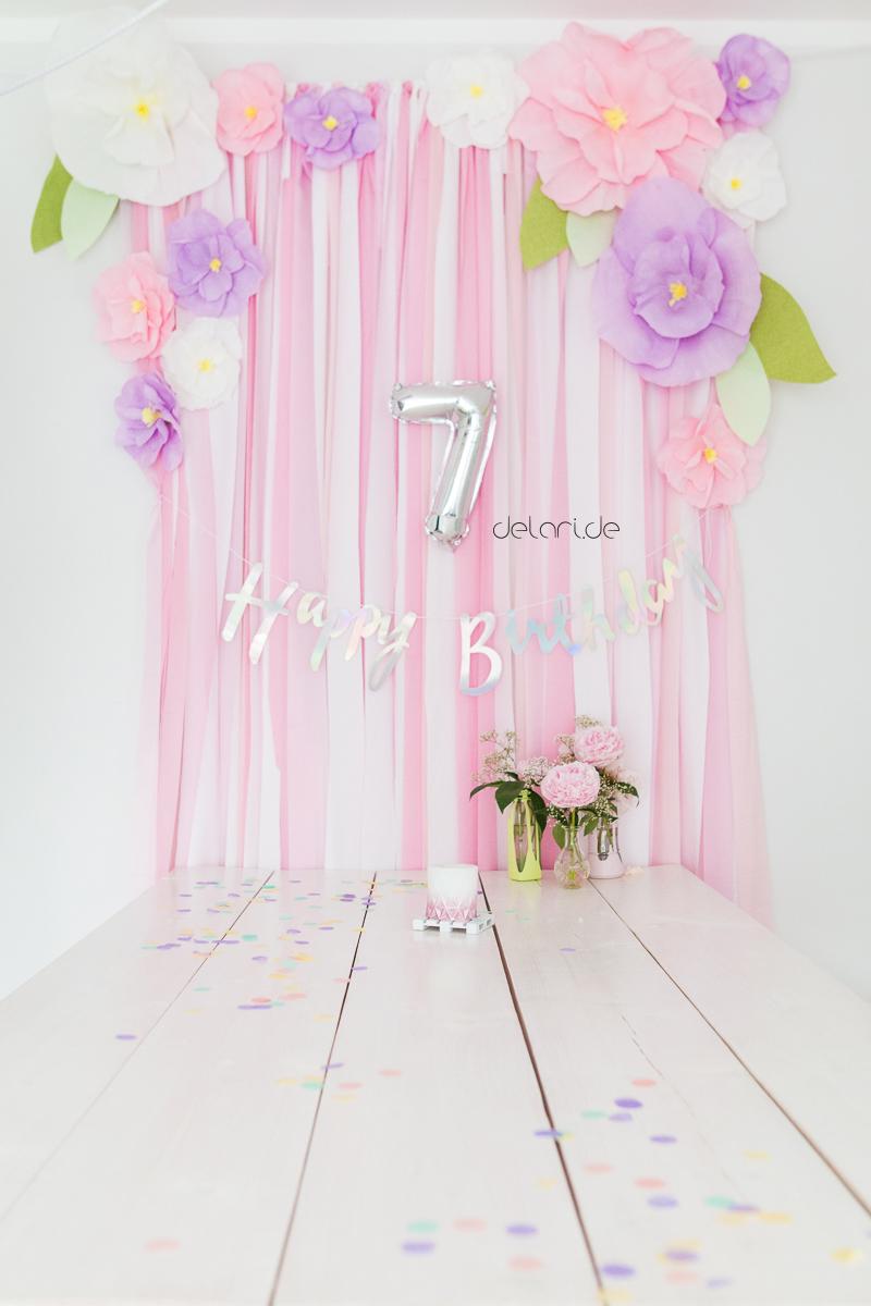 Kindergeburtstag Blumengeburtstag Blumenfest Geburtstagsdekoration DIY Luftballons Folienluftballons