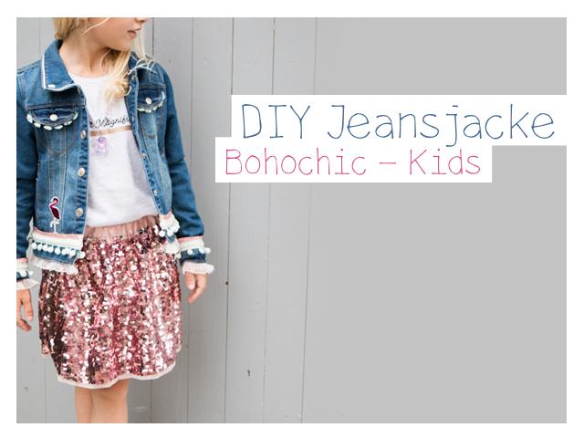 Jeans Jacke – DIY – Bohochic fuer Kids