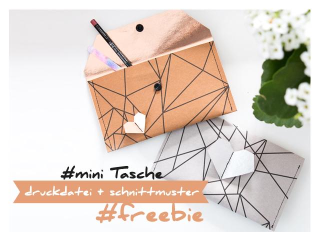 Mini Tasche – Freebie – mit Schnittmuster und Druckdatei