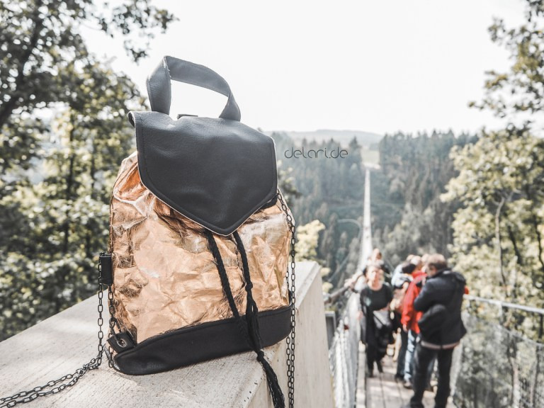 nähen Schnittmuster selfmade Rucksack gold snappap naehpappe
