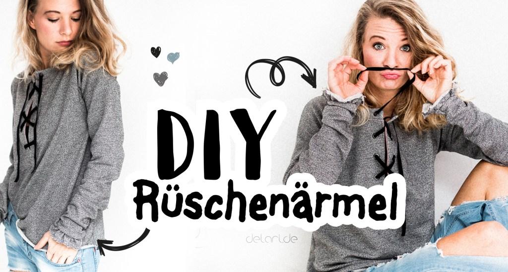 DIY Rüschenärmel Anleitung Tutorial Video