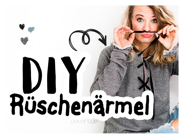 Grey Sweater mit Lace-up und Rüschenärmeln – Video Tutorial
