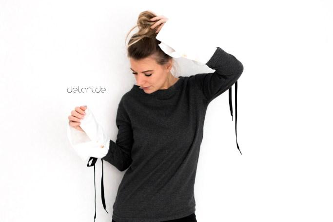 Fake Hemd nähen Schnittmuster Fashion 2018 Manschette diy