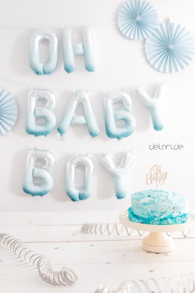 Oh Babyboy Babyparty Diy Mit Kreidefarbe Delari