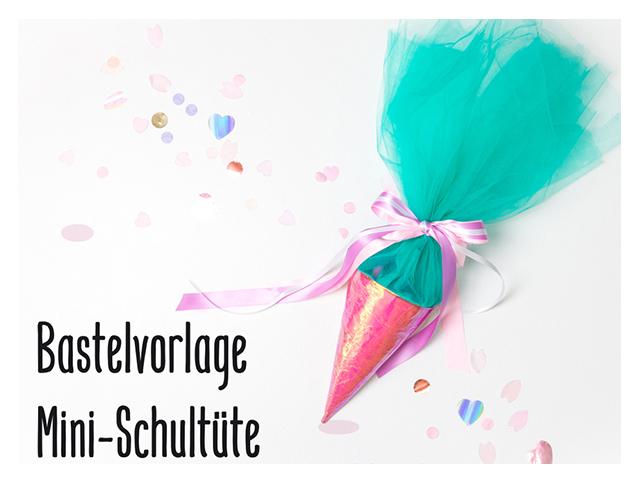 Mini Schultüte Bastelvorlage / Zuckertüte