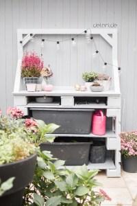 PalettenPflanztisch DIY Garten - delari - Anleitung