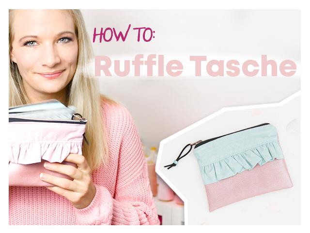 Ruffle Tasche nähen mit Video //delari