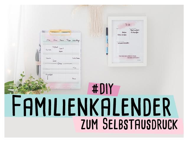 Familienkalender zum selbstausdrucken – Wandkalender 2020 //delari