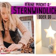 Stern Windlicht DIY aus Holz