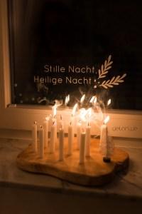 Kerzenbrett DIY Weihnachten scandidesign delari Christbaumkerzen
