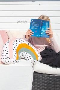 Regenbogenkissen Freebook delari stoffe.de kostenloses schnittmuster