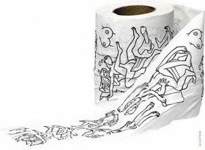 hartie de tip igienica cu imprimeu