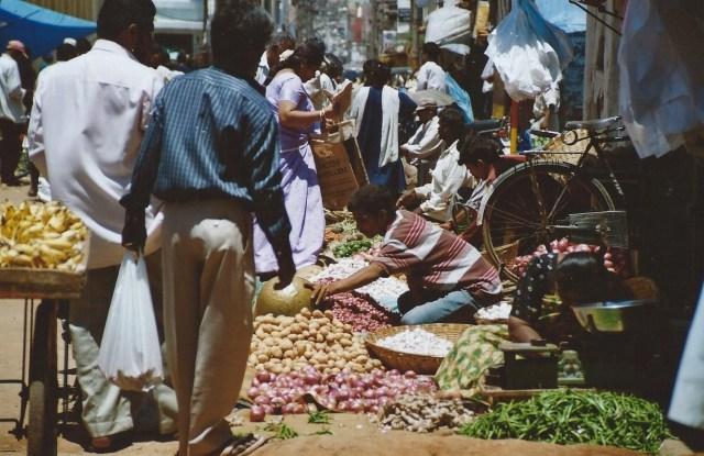 Marché de Mysore, Inde (mars 2003)