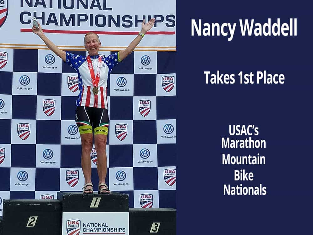 Nancy Waddell takes 1st place.