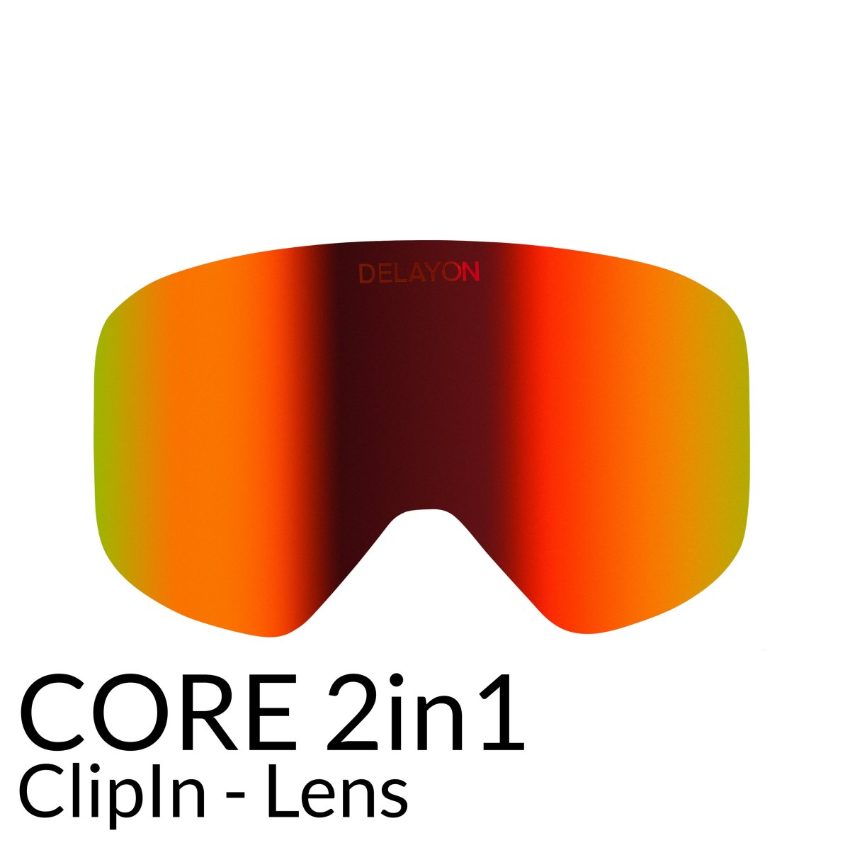 DELAYON Eyewear COre2in1 Ski Brille Goggle Scheibe Space Fire