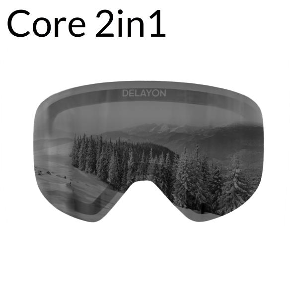 DELAYON Eyewear Core 2in1 Lens Ultra STRONG Black ClipIn