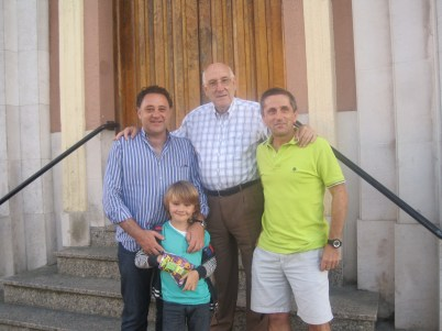 2013 09 02 Diego Sarabia, Aurelio, Jesús Jiménez y su hijo