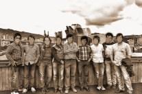 2015 06 13 Encuentro en Deusto (3) Rico, Iñake Sánchez, Víctor López, ...sepia