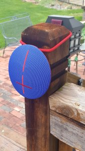 outdooor funs with a bluetooth speaker
