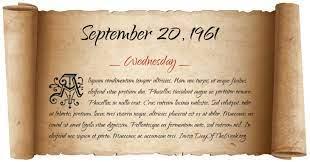 September 20 1961