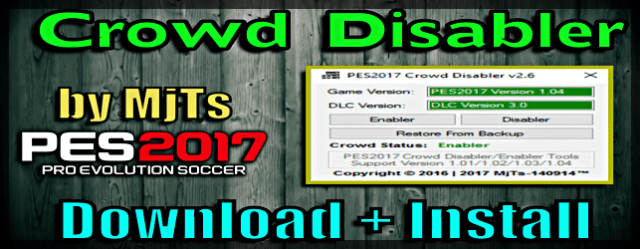 Pes 2017 Crowd Disabler For Pte Patch Or Without Patch Del Choc Web