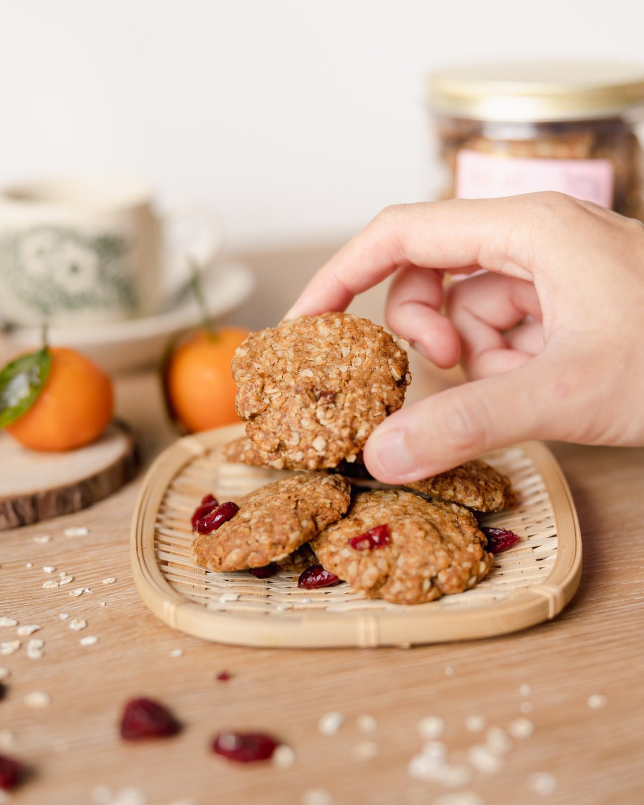 Oatmeal Cranberry Cookies Vegan Diabetes Friendly Delcie S Desserts And Cakes