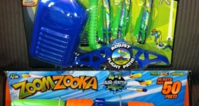 Zoom Rocketz and ZoomZooka Air Blasting & Water Fun from Zing Toys {Review}