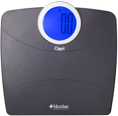 Ozeri WeightMaster Bathroom Scale with Microban Antimicrobial Protection