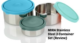 MIRA Stainless Steel 3 Container Set Lunch Box Snack Box {Review}