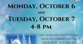 Chick-Fil-A at Lima to Host Frozen Themed Fun 10/6 & 10/7 & a Giveaway