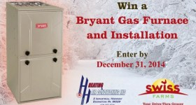 Enter to #Win A New Bryant Gas Warm Air Furnace from Swiss Farms and H&H Heating and Air Conditioning #Delco