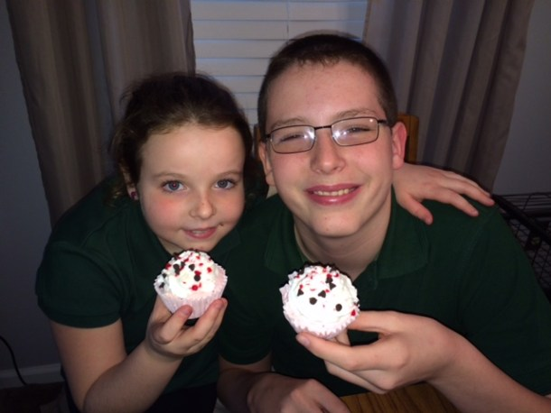 Peppermint Ice Cream Cupcake Kids