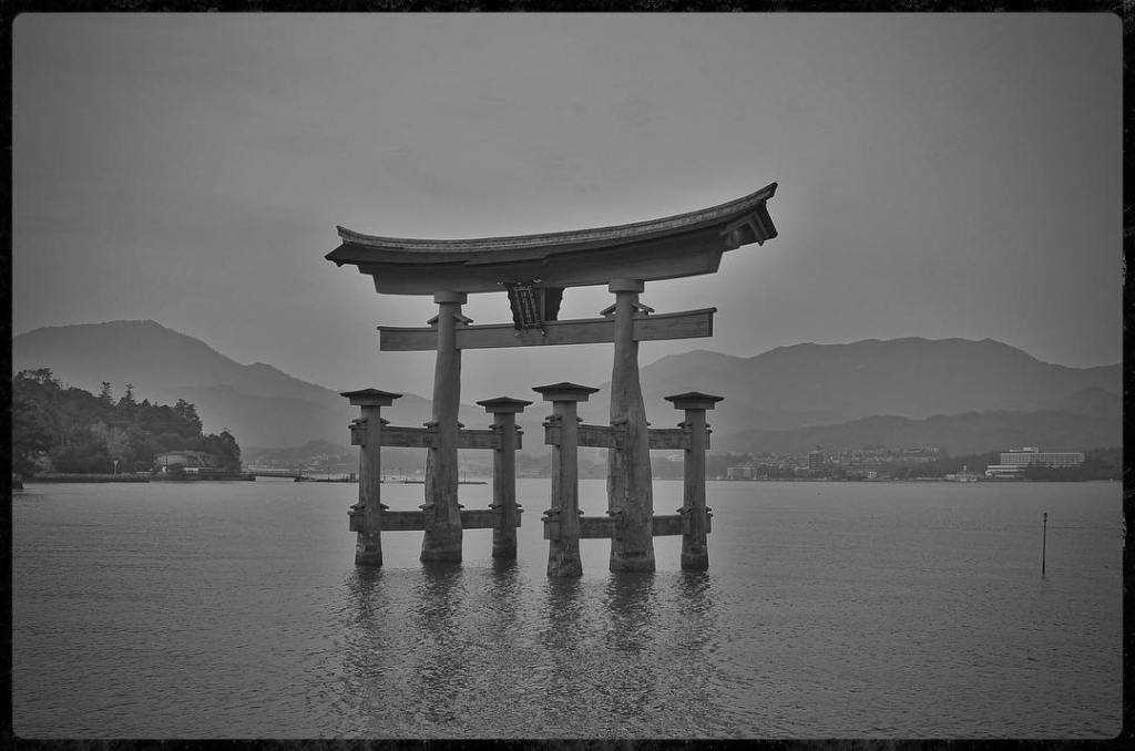Tori in the Harbor on Miyajima Island - Nikon D7000 Nikkor AF-S 35mm   Del Cook Photography