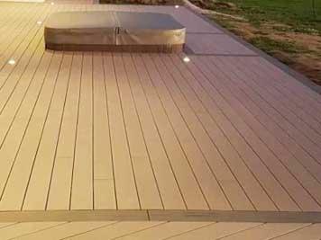 Terrasse en kit Terrassteel en bois ou céramique