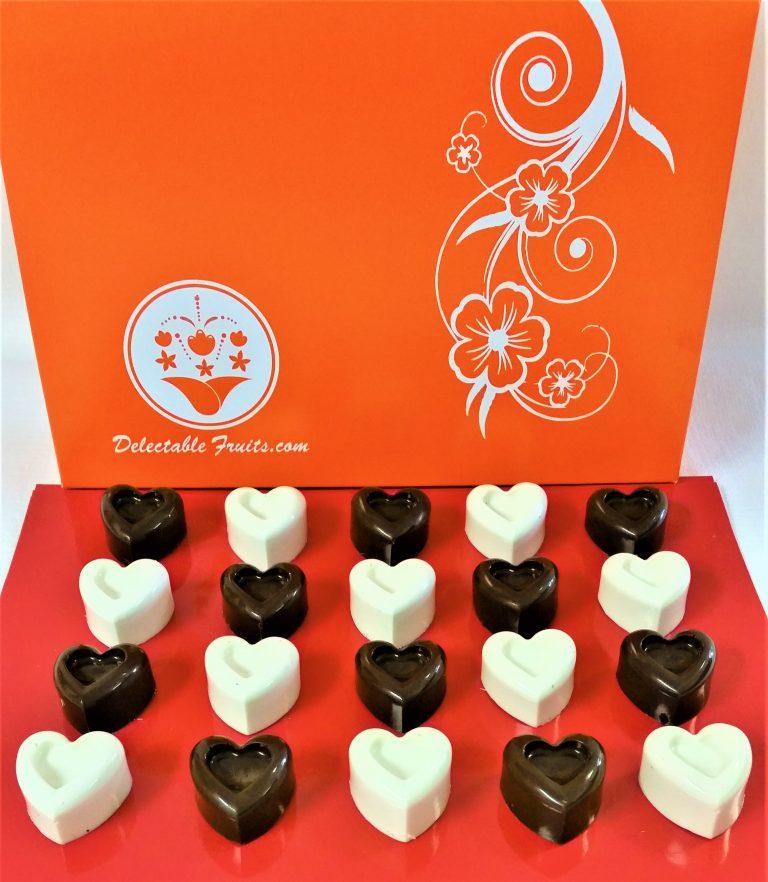Fruity Chocolate Hearts Delectable Fruit Arrangements Llc