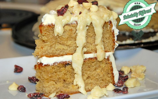 White Chocolate Cranberry Macadamia Cake