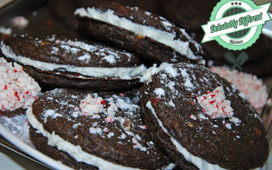 Chocolate Peppermint Crème Sandwich Cookies