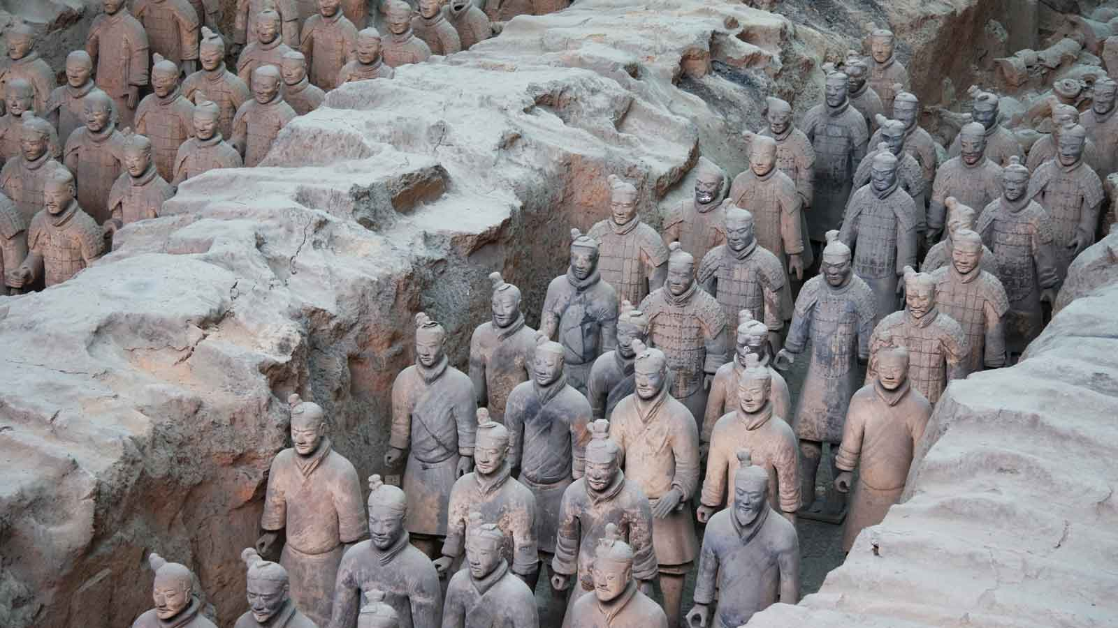 Terracotta warriors date from over 2,000 years ago and are considered to be one of the most important recent archaeological finds | source: Nicky Loh/Reuters