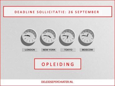 Deadline sollicitatie opleiding 2022: 26 september