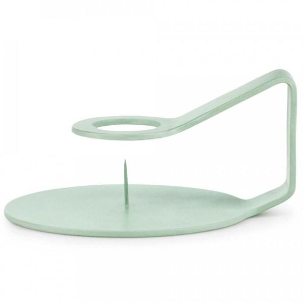 Candelabro Nocto diseñado en zinc lacado verde para Normann Copenhagen