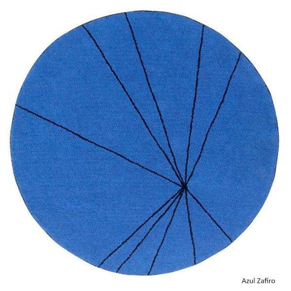 Alfombra lavable Trace azul zafiro de Lorena Canals